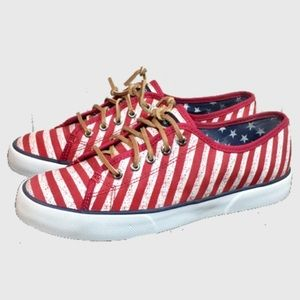Sperry Topsider Red and white Shoes
